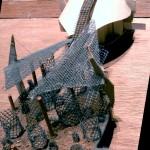 Palo Verde Bridge Model - Made from Desert Debris